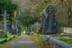 Cemetery in the Lake District area. UK stock photos