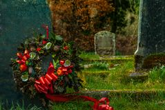 Cemetery in the Lake District area. UK stock image