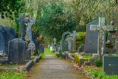 Cemetery in the Lake District area. UK royalty free stock image