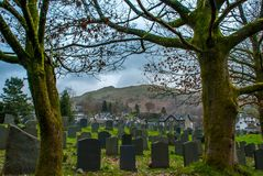 Cemetery in the Lake District area. UK stock photo