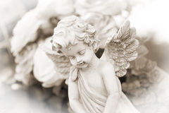 Cemetery. Little Angel on a cemetery Royalty Free Stock Images