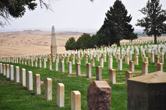 The Cemetery at Little Bighorn in Montana Royalty Free Stock Photos