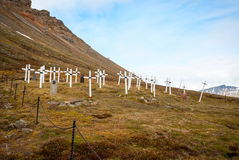 Cemetery in Longyearbyen, Svalbard Royalty Free Stock Image