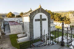 The Cemetery of Luarca, Spain Stock Images