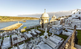 The Cemetery of Luarca, Spain Royalty Free Stock Photography