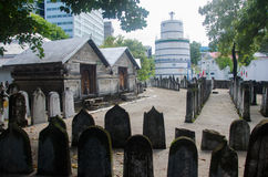Cemetery at Maldives Stock Image