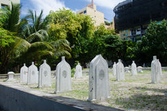 Cemetery at Maldives Stock Photo