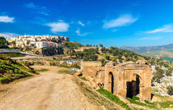 Cemetery at the Marinid Tombs in Fes, Morocco Stock Photo