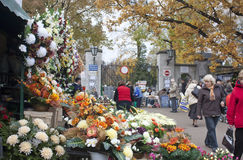 Cemetery market in warsaw. Market in warsaw at Brodnowski cemetery Stock Image