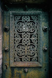 Cemetery mausoleum door detail Royalty Free Stock Images