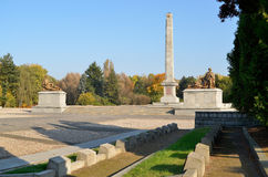 Cemetery Mausoleum of Soviet Soldiers in Warsaw. The cemetery was founded in 1949-1950, conceals the ashes of 21 468 Soviet soldiers 1 Belarussian Front, who Royalty Free Stock Photos