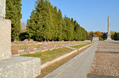 Cemetery Mausoleum of Soviet Soldiers in Warsaw. The cemetery was founded in 1949-1950, conceals the ashes of 21 468 Soviet soldiers 1 Belarussian Front, who Stock Image