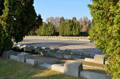 Cemetery Mausoleum of Soviet Soldiers in Warsaw. The cemetery was founded in 1949-1950, conceals the ashes of 21 468 Soviet soldiers 1 Belarussian Front, who Royalty Free Stock Photo