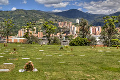 Cemetery in Medellin Stock Images