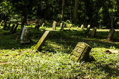 Cemetery in Monkey Forest Royalty Free Stock Photography