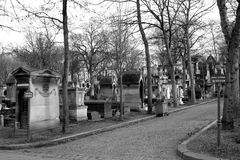 Cemetery. Montmartre Cemetery is a cemetery in Paris, France, it is the third largest necropolis in Paris, after the Père Lachaise cemetery and the royalty free stock photos