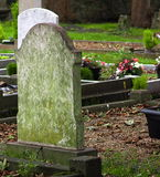 Cemetery With Moss Covered Marker In Ireland Stock Photos