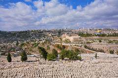 The cemetery on the Mount of Olives Royalty Free Stock Photography