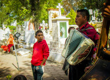Cemetery, Music, San Miguel, Mexico Stock Photos