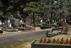 Cemetery Naderde in Debrecen. Hungary.  Stock Images