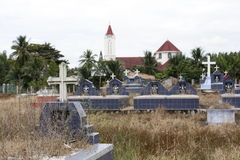 The cemetery next the church Stock Image
