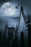 Cemetery at night Stock Photography