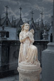 Cemetery Night Angel Stock Photo