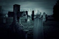 Cemetery night Stock Photo