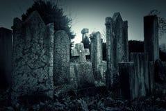 Cemetery night Stock Image