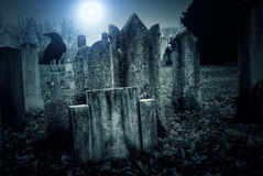 Cemetery night Royalty Free Stock Image