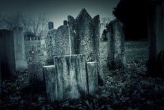 Cemetery night Stock Photos
