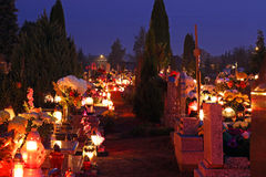 Cemetery at night Stock Images