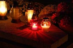 Cemetery at night Stock Photos