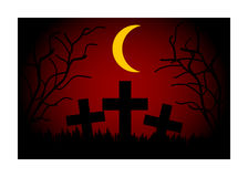 Cemetery at night Royalty Free Stock Image