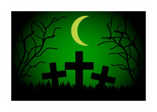 Cemetery at night Stock Image