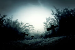 Cemetery night Royalty Free Stock Images