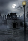 Cemetery by night Royalty Free Stock Photos