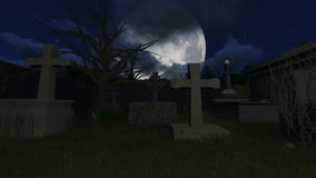 Cemetery at night video stock video footage