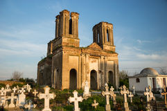 Cemetery and old church. In Romania Royalty Free Stock Photography