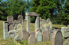 The cemetery. Old Jewish cemetery in Sanok Royalty Free Stock Image