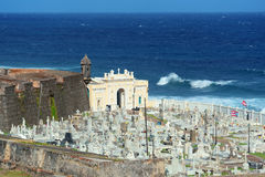 Cemetery in old San Juan. Puerto Rico stock images