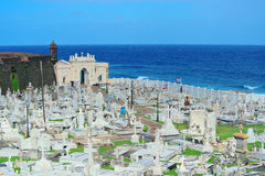 Cemetery in old San Juan. Puerto Rico royalty free stock image
