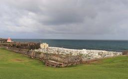 Cemetery in Old San Juan, Puerto Rico. Cemetery along the coast in Old San Juan, Puerto Rico stock photo