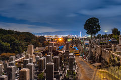 Cemetery  of Otani Hombyo temple in Kyoto Royalty Free Stock Photos