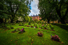 Cemetery outside Katarina kyrka, in Södermalm, Stockholm, Swede Stock Images
