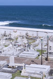 Cemetery overlooking ocean Royalty Free Stock Photo