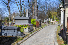Cemetery. Père Lachaise cemetery in Paris, France, where various famous people (such as Jim Morrison) are buried royalty free stock photo