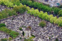Cemetery in Paris, France. stock photo