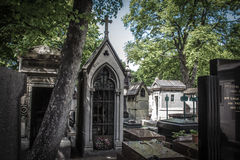 Cemetery in Paris Stock Photography