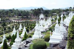 Cemetery in park Nong Nooch Stock Photo